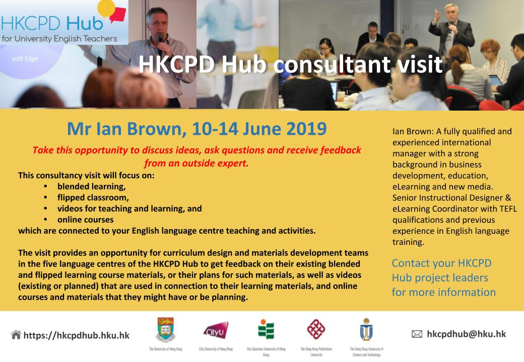 Ideas For Visiting Teaching June 2019 Consultant visit on curriculum design and materials development