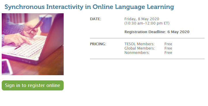 Synchronous Interactivity in Online Language Learning
