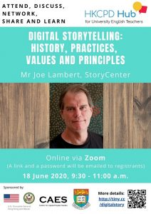 Digital Storytelling: History, Practices, Values and Principles @ Online