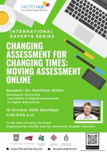Changing assessment for changing times: Moving assessment online by Dr. Matthew Hillier @ Online