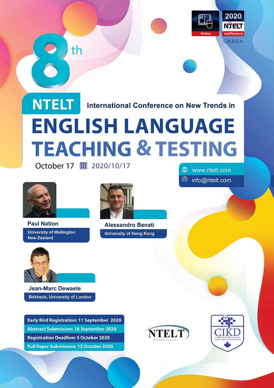 NTELT International Conference on New Trends in English Language Teaching & Testing