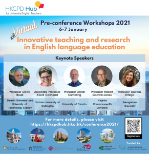 HKCPD Hub Virtual International Conference 2021 for English teaching professionals worldwide – Pre-Conference Workshops @ Online