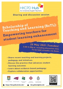 Scholarship of Teaching and Learning (SoTL): Empowering teachers for student learning enhancement @ Online